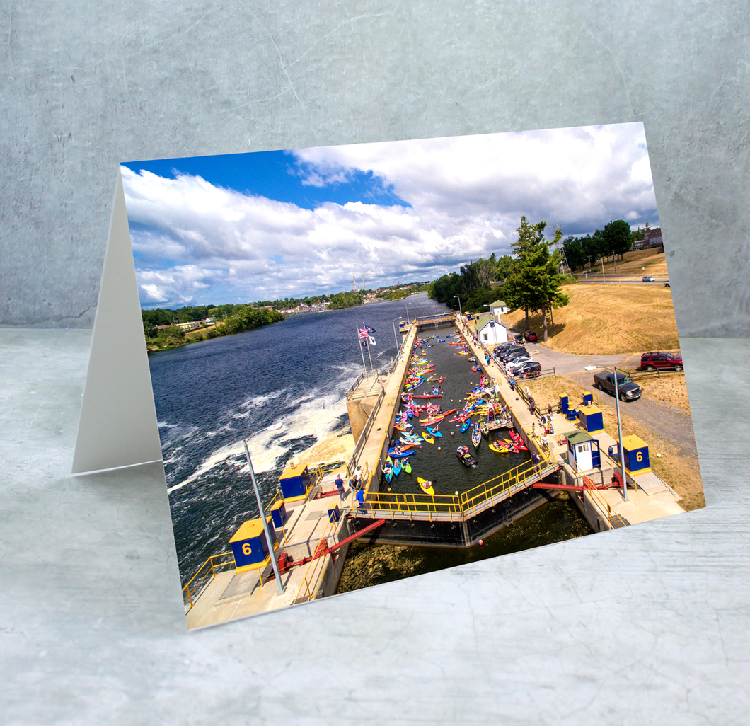 Lock 6 Greeting Card