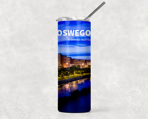 Oswego River Looking West 20oz Skinny Tumbler
