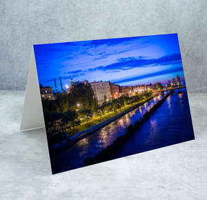 Oswego River Looking West Greeting Card