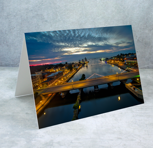 Oswego River at Twilight Greeting Card