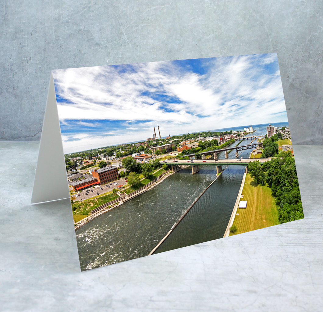Oswego River Greeting Card
