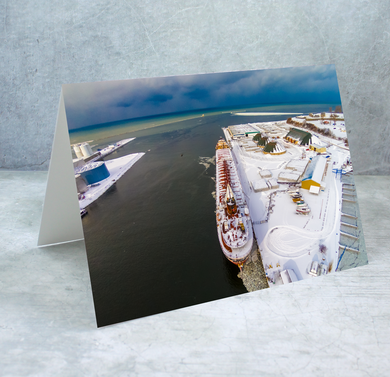 Port of Oswego Authority in Winter Greeting Card