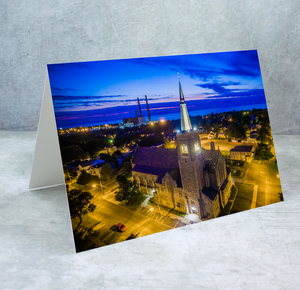St. Mary's Church at Night Greeting Card