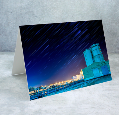 Star Trails in Oswego Sky Greeting Card