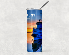 Load image into Gallery viewer, Tug Sunset 20oz Skinny Tumbler