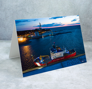 US Coast Guard in Oswego River Greeting Card