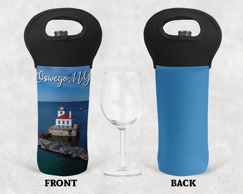 West Pierhead Lighthouse Wine Tote
