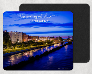 Oswego River Looking West Mouse Pad