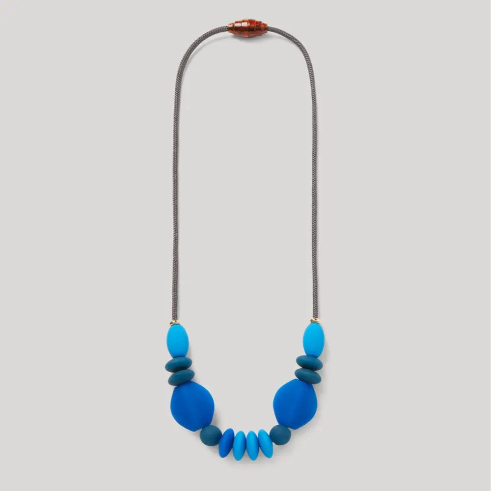 Signature Teething Necklace - Cobalt