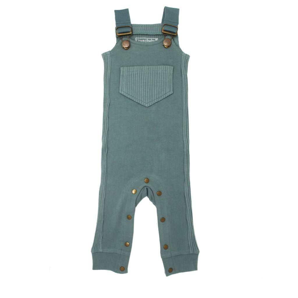 Footless Ribbed Overall Jade