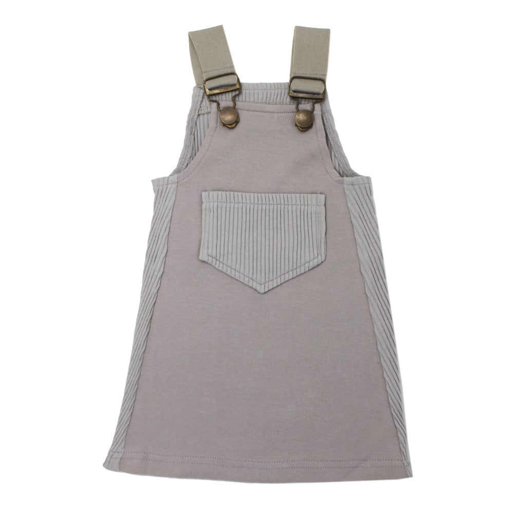 Ribbed Tank Dress Light Gray