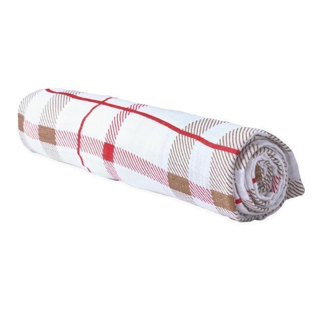 Cotton Muslin Swaddle Single - Plaid