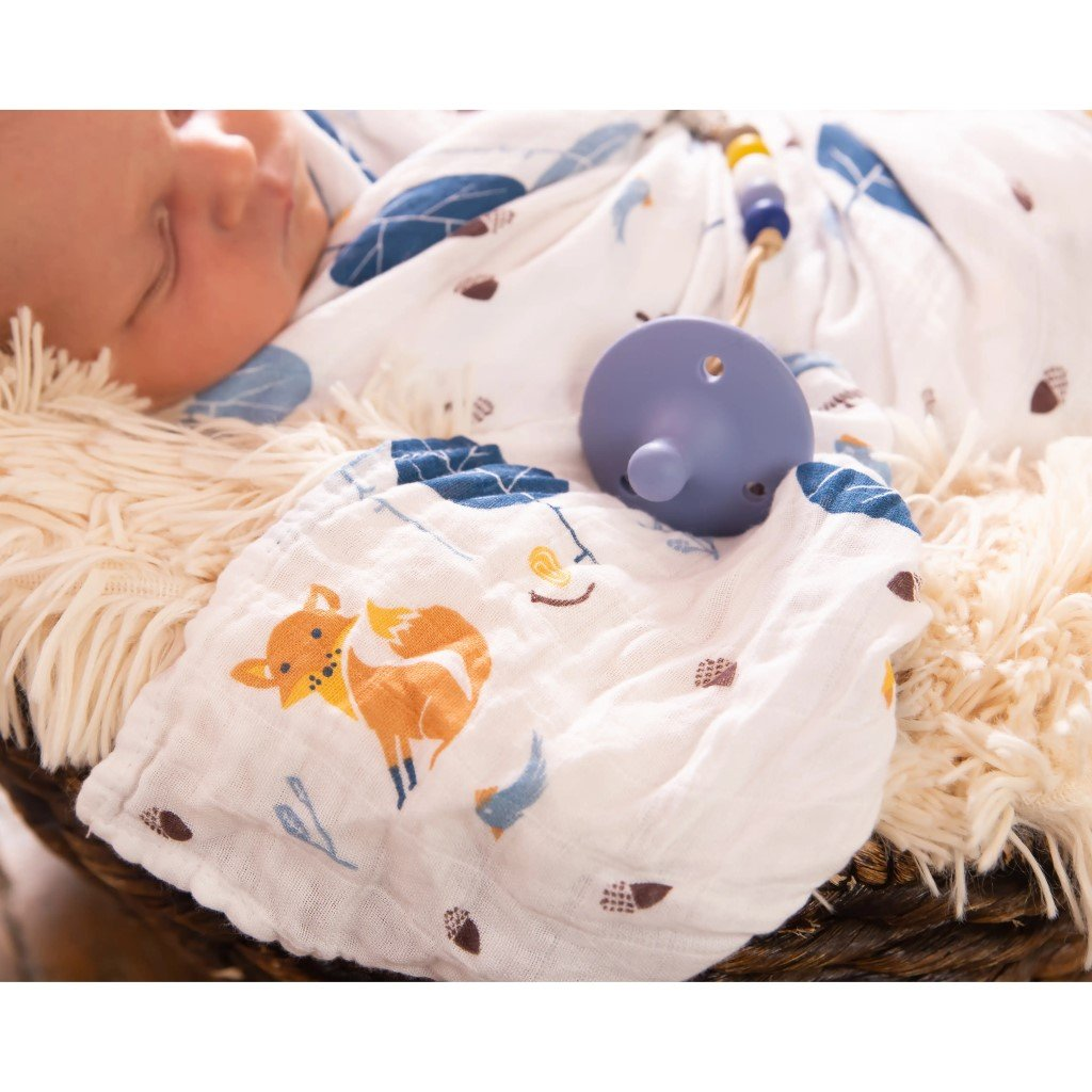 Bamboo/Cotton Muslin Swaddle - Forest Friends