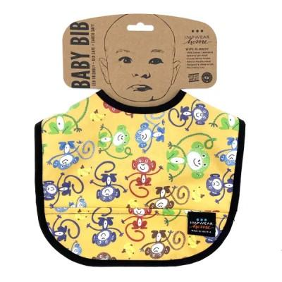 Jack's Bib Eco-Friendly Wipe-N-Wash Pocket Bib - Banana