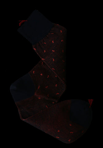 Paisley Vanisé Cotton-Silk Mid-Calf