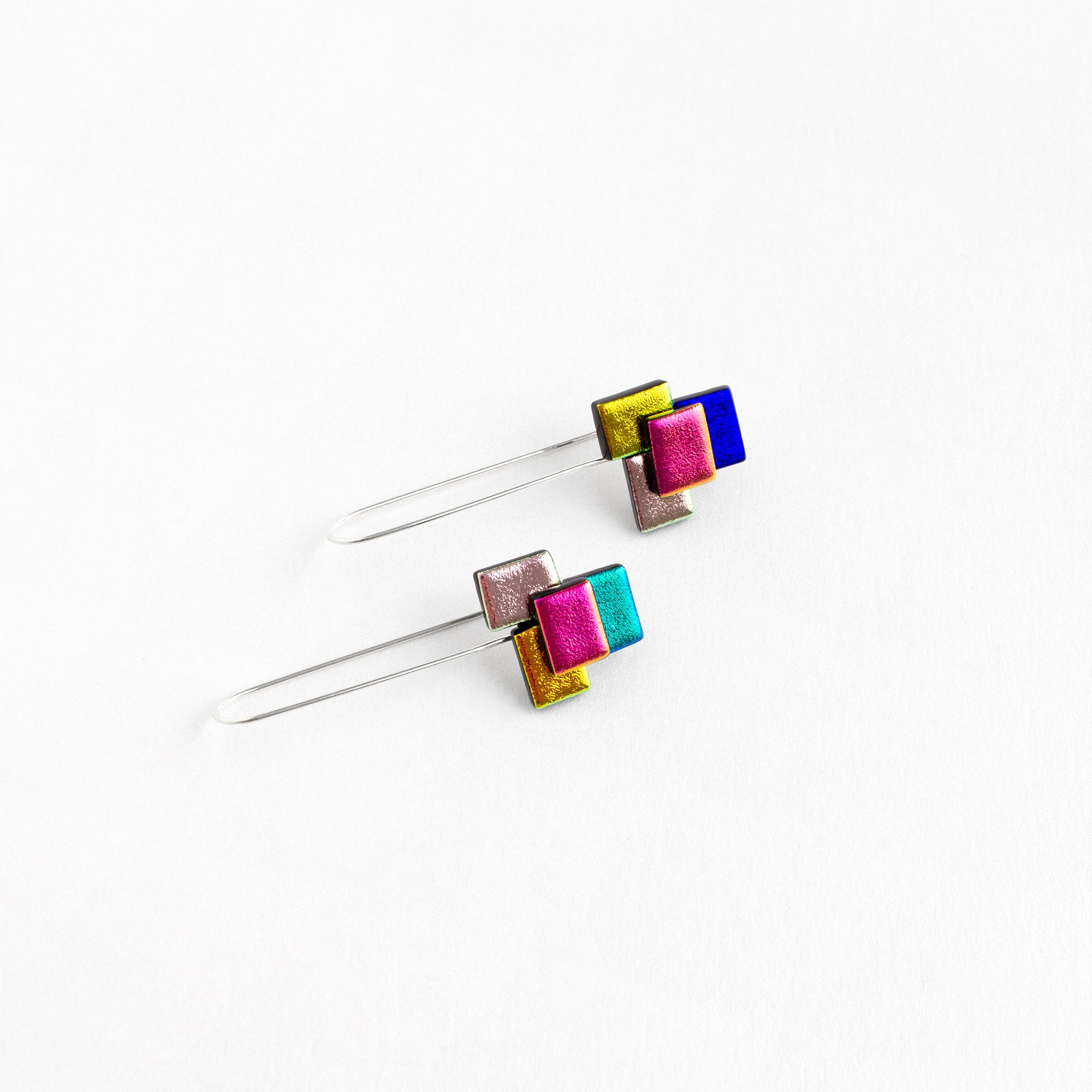 Long Puzzle Earrings