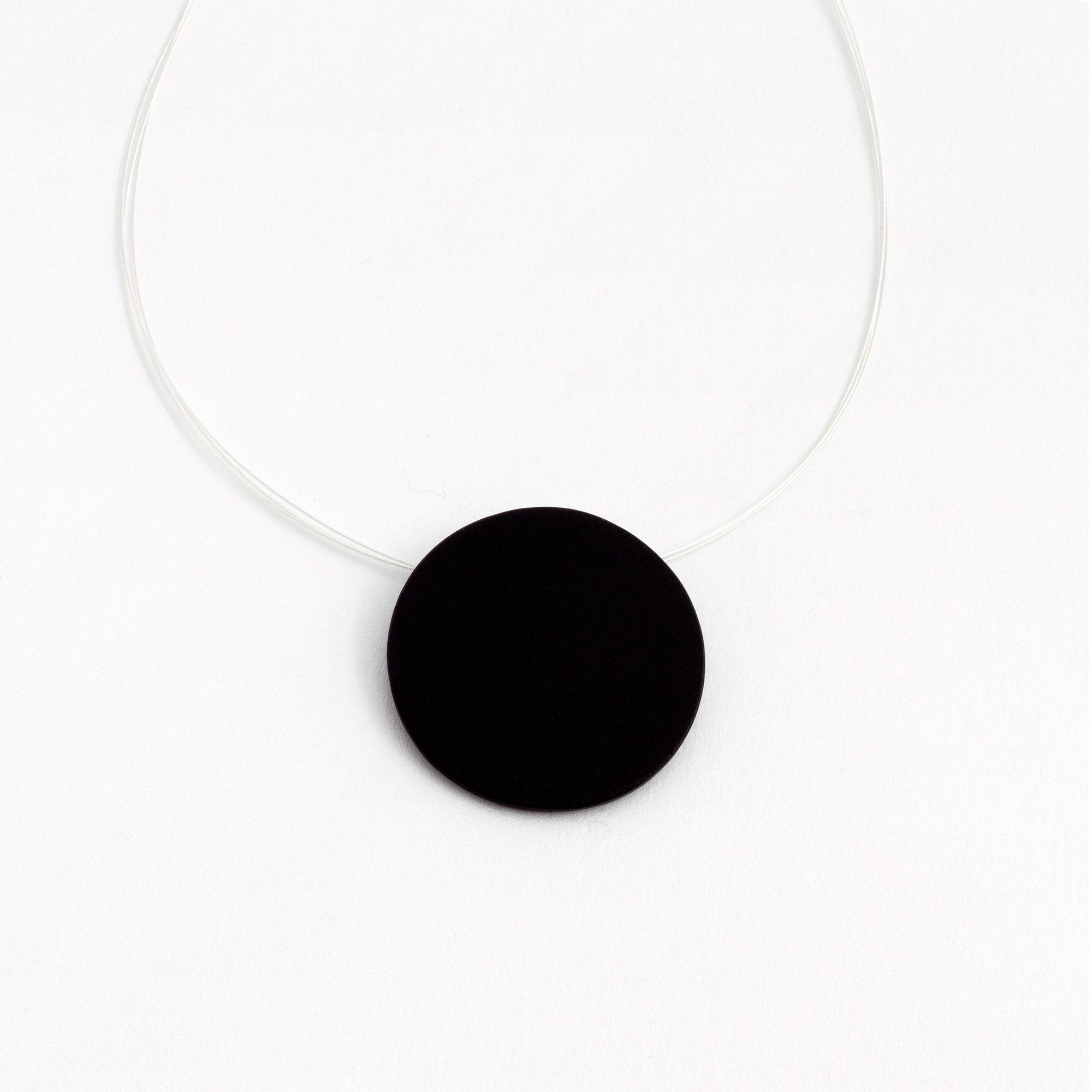 Matt Black Circle Pendant