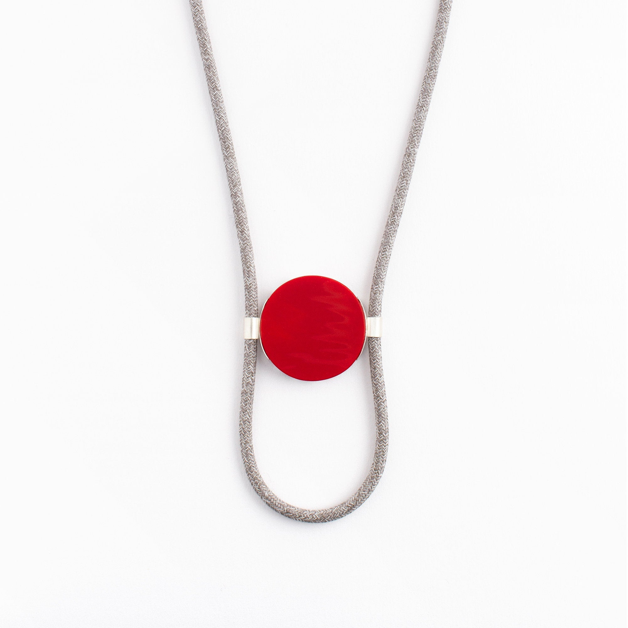 "Red ""Street Lines"" Pendant"