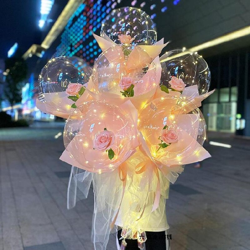 Zero Balloon™️ LED Luminous Balloon Rose Bouquet
