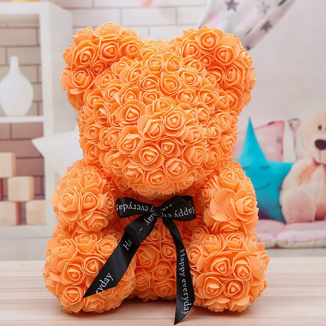 Rose-Covered Teddy Bear - Oh My Gagdet