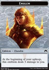 Emblem - Chandra, Roaring Flame [Magic Origins Tokens] | Tacoma Games