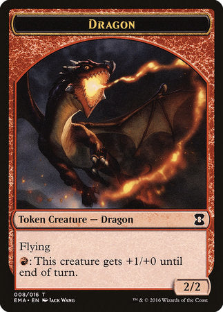 Dragon Token [Eternal Masters Tokens] | Tacoma Games