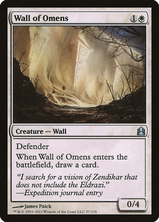Wall of Omens [Commander 2011] | Tacoma Games