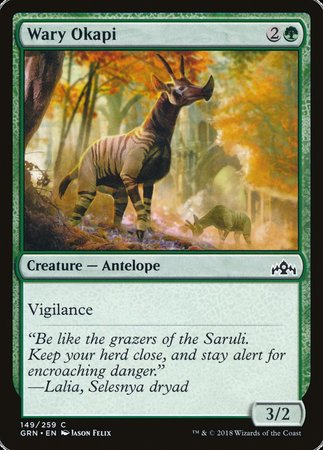 Wary Okapi [Guilds of Ravnica] | Tacoma Games