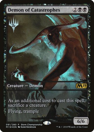 Demon of Catastrophes [Core Set 2019 Promos] | Tacoma Games