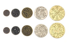 Metal Coins: Celtic Theme Set | Tacoma Games