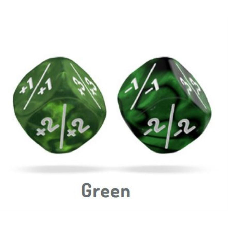 Oakie Doakie Dice D6 12mm Marble Gemidice Positive And Negative Dice Tacoma Games