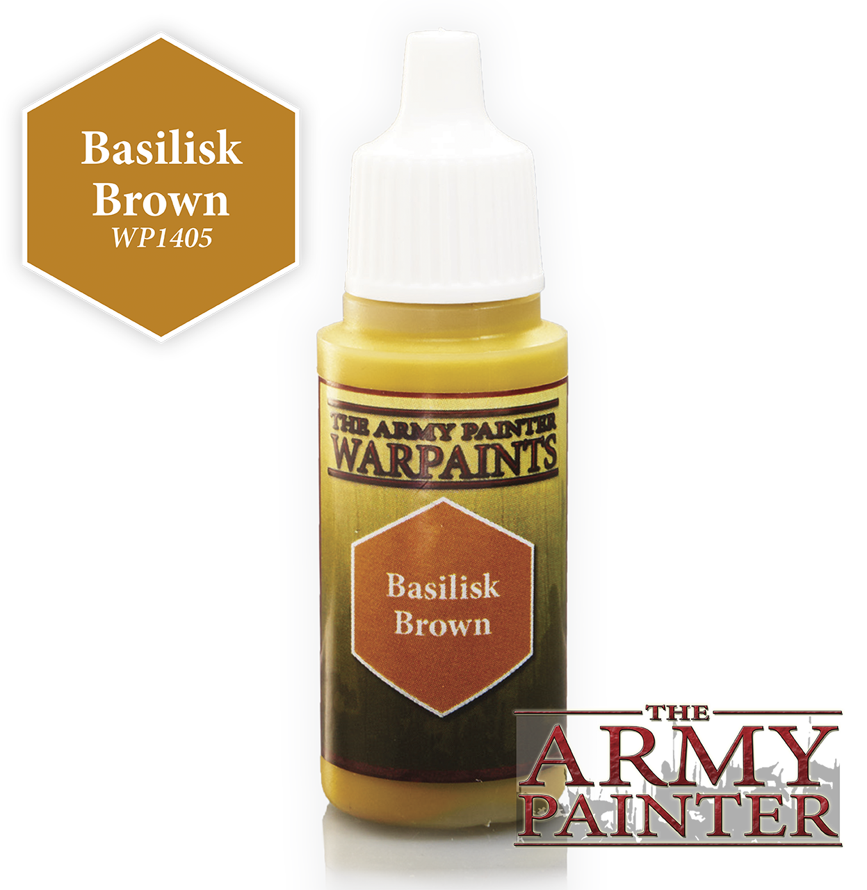 The ARMY PAINTER: Acrylics Warpaint - Basilisk Brown | Tacoma Games
