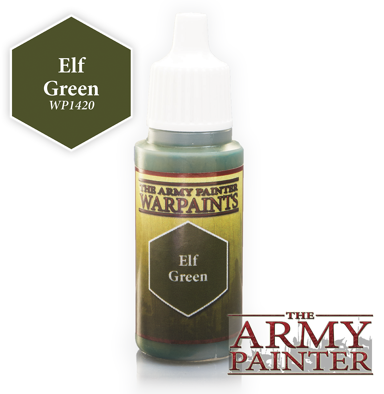 The ARMY PAINTER: Acrylics Warpaint - Elf Green | Tacoma Games