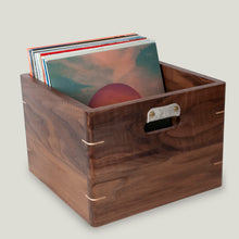 Load image into Gallery viewer, Walnut Record Crate