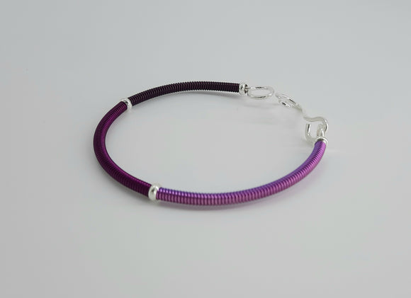 Bracelet - Asymetrical Orchid Ombre Color Block