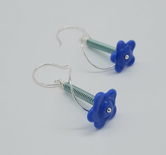 Earrings - Buds & Blossoms. FlowerPower - (blue) Multiple Color Options
