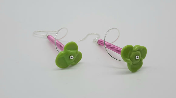 Earrings - Buds & Blossoms. FlowerPower - (lime) Multiple Color Options