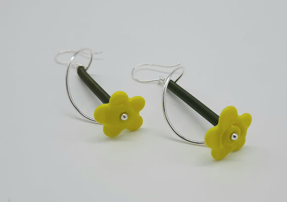Earrings - Buds & Blossoms. FlowerPower - (yellow) Multiple Color Options