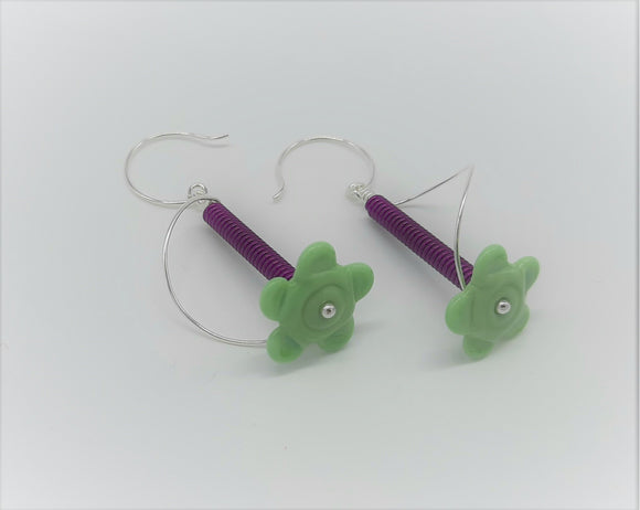 Earrings - Buds & Blossoms. FlowerPower - (mint) Multiple Color Options