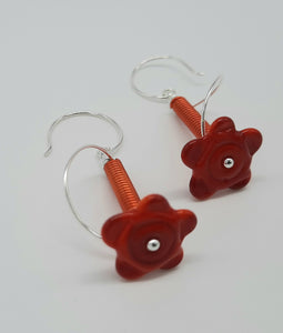 Earrings - Buds & Blossoms. FlowerPower - (red) Multiple Color Options