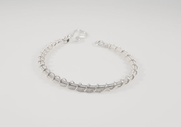Bracelet - Sterling Silver Double Twist Wrap
