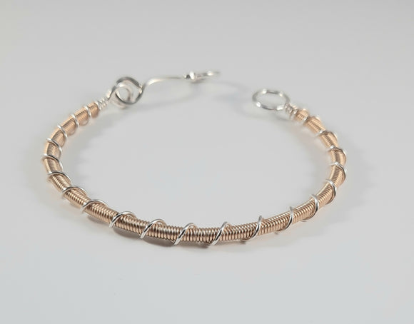 Bracelet - Mixed Metal, 14k Gold Filled Wrap w/ Sterling Double Twist
