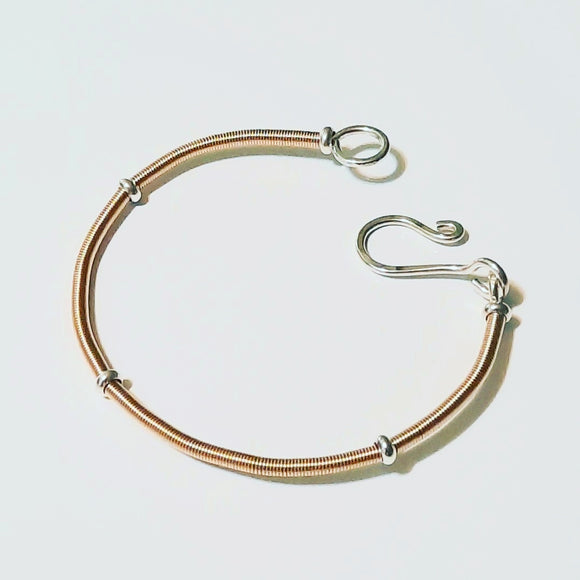 Bracelet - Asymetrical Block in 14k gf & Sterling Silver