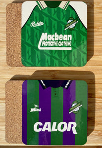 Hibernian FC Retro Kit Coasters (Set of 2)