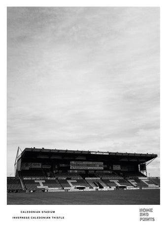 Caledonian Stadium Black & White
