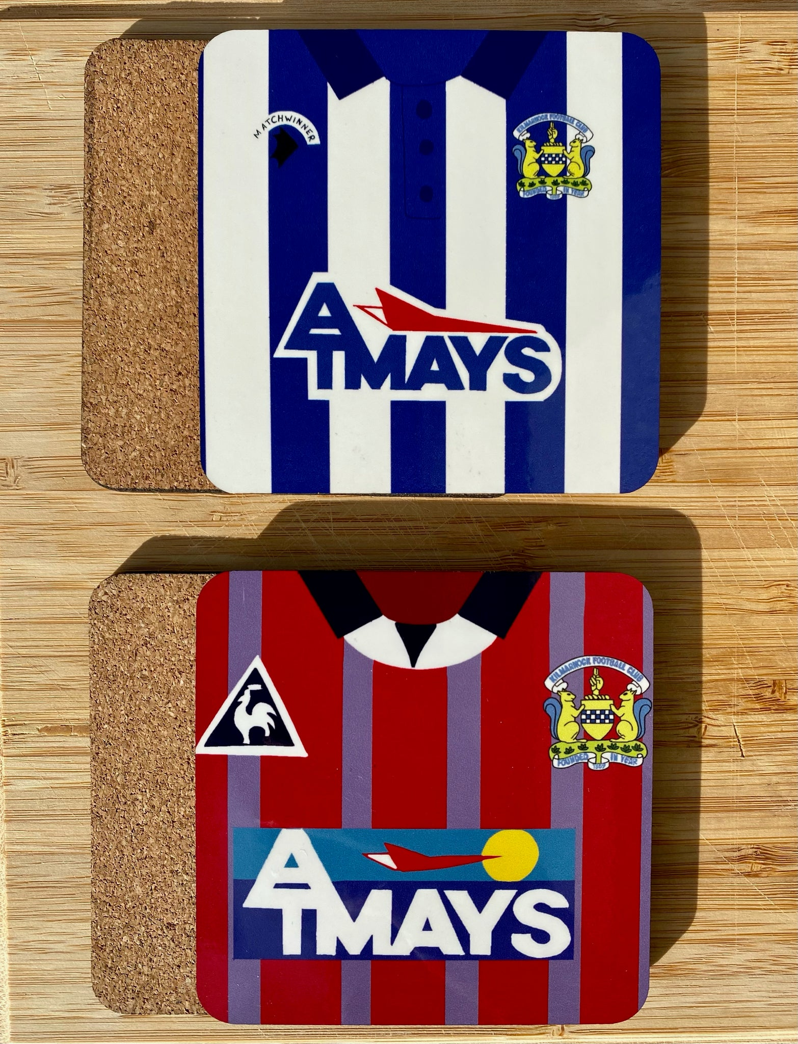 Kilmarnock FC Retro Kit Coasters (Set of 2)