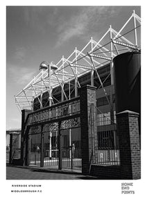 Riverside Stadium Black & White