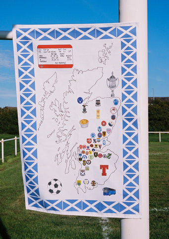 Scottish Football Map T Towel