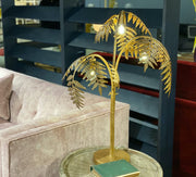 Palm Leaf Table Lamp | Antique Gold