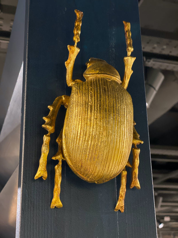 Large Scarab Beetle Wall Decor | Gold